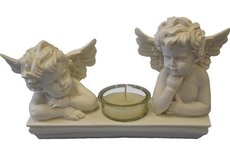 Aniołek kamienny świecznik
