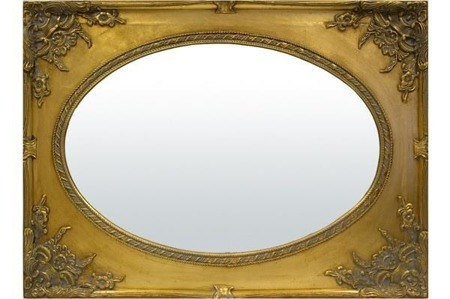 Lustro złota rama  85x115