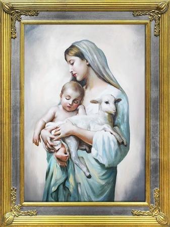 OBRAZ RELIGIJNY MARYJA 68x88cm
