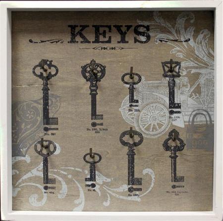 Skrzynka wieszak na klucze 31x31x3.5