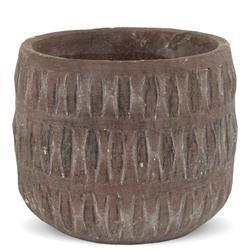 Cementowa Osłonka, Kolor: Terrakota , h:13,5cm