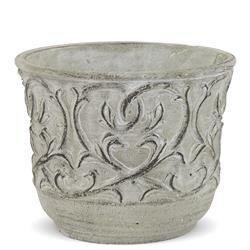 Cementowa Osłonka Szara Oryginalna Dekoracja h:12cm
