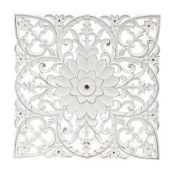 Dekoracja Ścienna Panel Ażurowy Biały Kwadrat 60x60