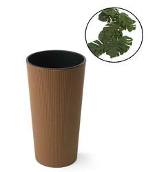 Doniczka z wkładem Lilia Drewno Eco H:46 cm 25x25