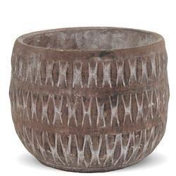 Duża Cementowa Osłonka, Kolor: Terrakota, h:15,5cm