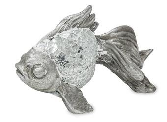 Figurka Bond Srebrna Ryba 12x15cm