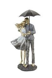 Figurka Para Przytulająca Się Pod Parasolem