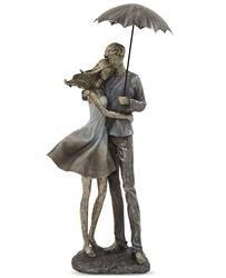 Figurka Przytulająca Się Para Z Parasolką