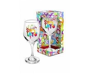 Kieliszek do wina 220 ml  literki na 100 urodziny