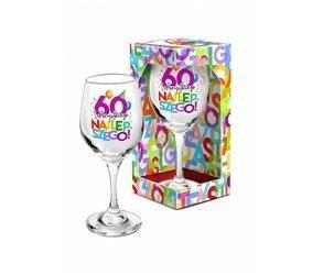 Kieliszek do wina 220 ml literki na 60 urodziny