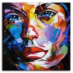 Obraz - Abstrakcje - olejny, ręcznie malowany 120x120cm