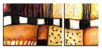 Obraz - Abstrakcje - olejny, ręcznie malowany 50x70cm+40x50cm