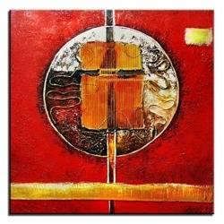 Obraz - Abstrakcje - olejny, ręcznie malowany 90x90cm
