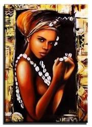 Obraz - Afryka - olejny, ręcznie malowany 50x70cm