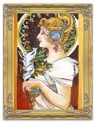 """Obraz """"Alfons Mucha"""" ręcznie malowany 63x84cm"""
