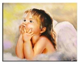 """Obraz """"Anioły"""" ręcznie malowany 50x70cm"""
