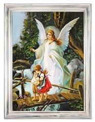 """Obraz """"Anioły"""" ręcznie malowany 64x84cm"""