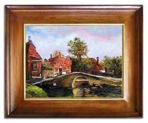 """Obraz """"Architektura"""" ręcznie malowany 46x56cm"""