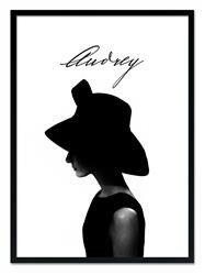 """Obraz """"Audrey Hepburn"""" reprodukcja 53x73cm"""