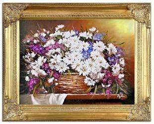 """Obraz """"Bukiety mieszane """" ręcznie malowany 37xz47cm"""