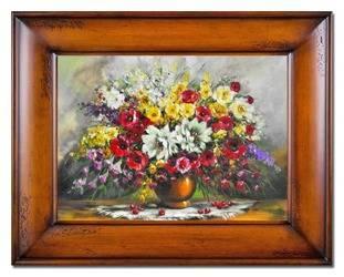 """Obraz """"Bukiety mieszane """" ręcznie malowany 76x96cm"""