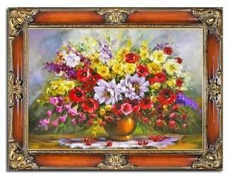 """Obraz """"Bukiety mieszane """" ręcznie malowany 85x115cm"""