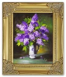 Obraz - Bzy - olejny, ręcznie malowany 27x32cm