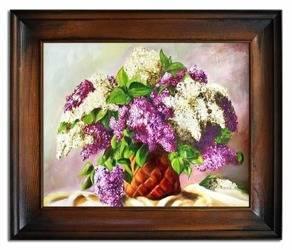 """Obraz """"Bzy"""" ręcznie malowany 53x63cm"""