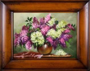 """Obraz """"Bzy"""" ręcznie malowany 76x96cm"""