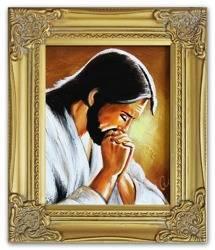 """Obraz """"Chrystus"""" ręcznie malowany 27x32m"""