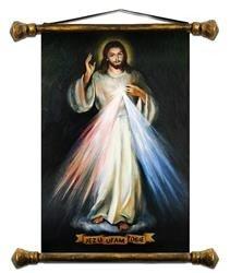 """Obraz """"Chrystus"""" ręcznie malowany 37x62cm"""