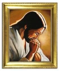 """Obraz """"Chrystus"""" ręcznie malowany 53x64cm"""