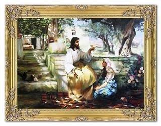 """Obraz """"Chrystus"""" ręcznie malowany 64x84cm"""