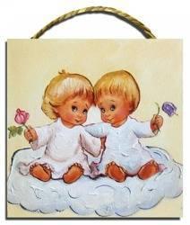 Obraz - Dziecięce - olejny, ręcznie malowany 22x22cm
