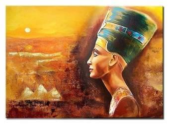 """Obraz """"Egipt"""" ręcznie malowany 50x70cm"""