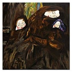 """Obraz """"Gustaw Klimt"""" ręcznie malowany 120x120cm"""