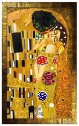 """Obraz """"Gustaw Klimt"""" ręcznie malowany 91x134cm"""