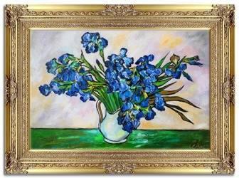 """Obraz """"Impresjonisci"""" ręcznie malowany 90x120cm"""