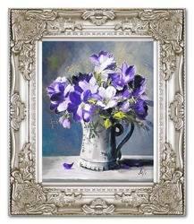 """Obraz """"Irysy"""" ręcznie malowany 28x33cm"""