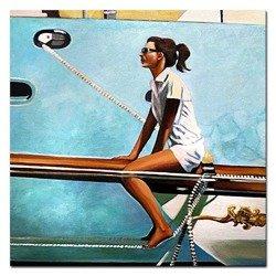 """Obraz """"Jack Vettriano"""" ręcznie malowany 120x120cm"""