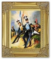 Obraz - Juliusz i Wojciech Kossakowie - olejny, ręcznie malowany 27x32cm