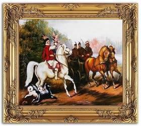 Obraz - Juliusz i Wojciech Kossakowie - olejny, ręcznie malowany 54x64cm