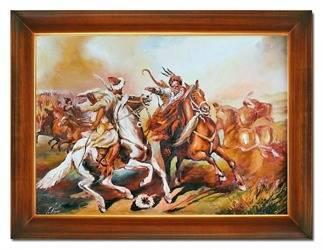 Obraz - Juliusz i Wojciech Kossakowie - olejny, ręcznie malowany 63x84cm