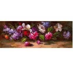 Obraz Kwiaty 40 x 120