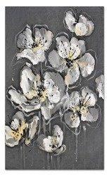 """Obraz """"Kwiaty nowoczesne"""" ręcznie malowany 115x195cm"""