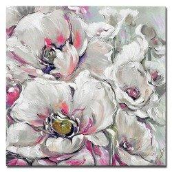 """Obraz """"Kwiaty nowoczesne"""" ręcznie malowany 40x40cm"""