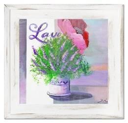 """Obraz """"Lawenda."""" ręcznie malowany 40x40cm"""