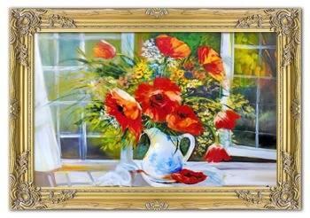 Obraz - Maki - olejny, ręcznie malowany 75x105cm