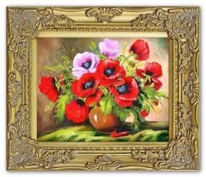 """Obraz """"Maki"""" ręcznie malowany 27x32cm"""