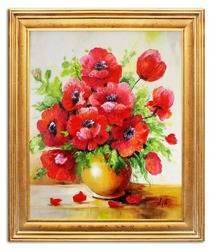 """Obraz """"Maki"""" ręcznie malowany 54x64cm"""